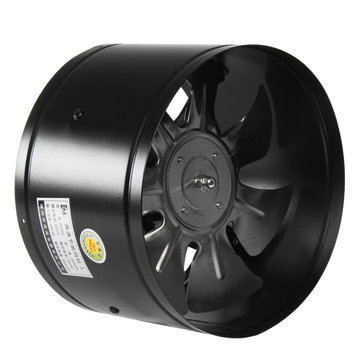 220v 4 6 8 10 inch inline duct fan booster exhaust blower air cooling vent black