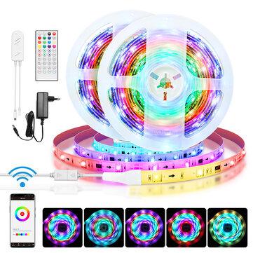 BlitzWolf® BW-LT31 5M/10M Built-in IC Smart Wi-Fi RGB Magic LED Strip Light+40Keys IR Remote Control Work with Alexa Google Assistant