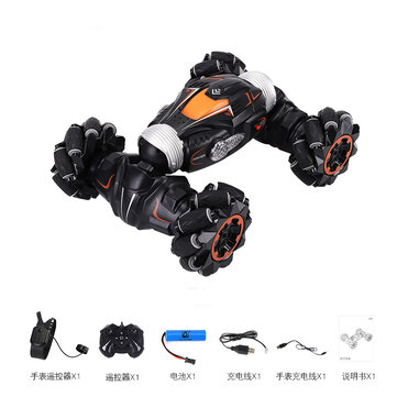 JJRC Q78 4WD Stunt RC Car Gesture Induction Twisting Off-Road Light Music Drift High Speed Climbing Vehicle Toy