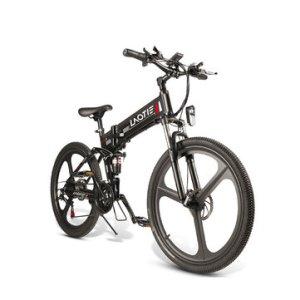 LAOTIE PX7 48V 10Ah 350W 26in Folding Electric Moped Bike 35km/h Top Speed 80km Mileage E-Bike Mountain Bicycle