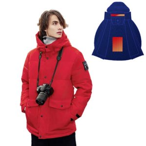 Αποθήκη Κίνας μέχρι και 2XL | COTTONSMITH Smart Heated Jackets 4-Gears Control Outdoor Mens Vest Coat USB Electric Heating Hooded Jackets Warm Winter Thermal Clothing