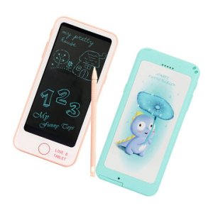 6 Inch Phone Shape LCD Writing Tablet Drawing Electronic Writing Pads For Office Blackboard Educational Toys Supplies