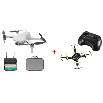 Eachine EX5 GPS 5G WIFI 1KM FPV Two Battery Storage Bag Version With Eachine E009 Green Two Battery Version RC Drone Quadcopter RTF