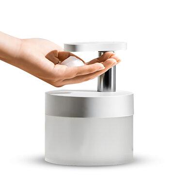 Zaiwan Automatic Soap Dispenser Hand Sanitizer Foam Machine 0.25S Infrared Sensor Touchless Liquid Foam Hand Washer for Bathroom Kitchen