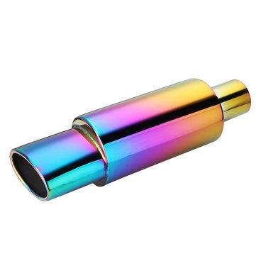 55mm stainless steel exhaust pipe racing muffler tip universal