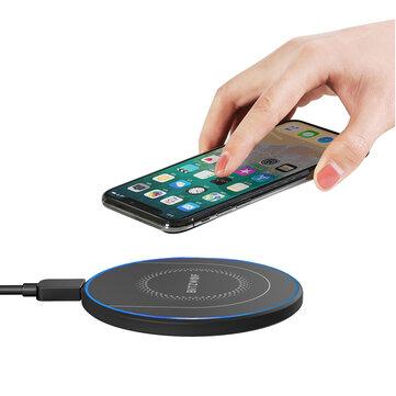 Ευρωπαϊκή αποθήκη | BlitzWolf® BW-FWC7 Qi Fast Wireless Charger 15W 10W 7.5W 5W for Mobile phone Earphone