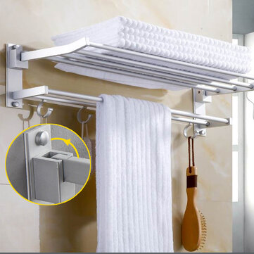wall mounted towel holder rack hook hanger bar shelf rail storage bathroom hotel
