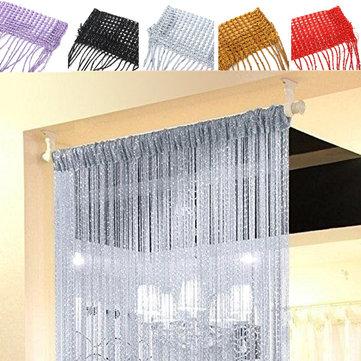 string door curtains bead window panel room divider crystal tassel fringe beaded