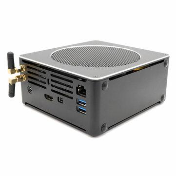 Eglobal S200 Mini PC i7-8750H 16GB+256GB/512GB Quad Core Win10 DDR4 Intel UHD Graphics 630 4.1GHz Fanless Mini Desktop PC SATA mSATA MIC VGA HDMI 1000M WIFI
