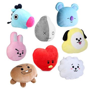 45x55cm plush pillow doll cushion toy for kpop bts bt21 tata shooky suga cooky