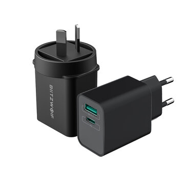 BlitzWolf® BW-S14 18W Type-C PD3.0 QC3.0 Wall USB Charger EU AU for iPhone 11 Pro XR Huawei P30 for Samsung Xiaomi