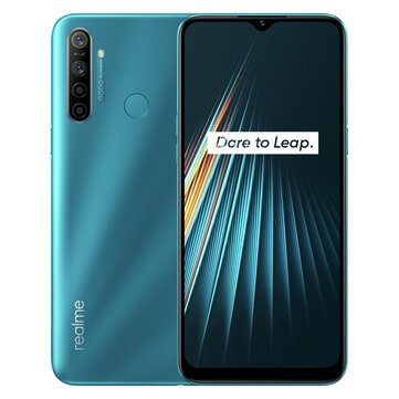 Realme 5i Global Version 6.5 inch HD 5000mAh Android 9.0 12MP AI Quad Rear Cameras 3 Card Shot 4GB RAM 64GB ROM Snapdragon 665 AIE Octa Core 4G Smartphone