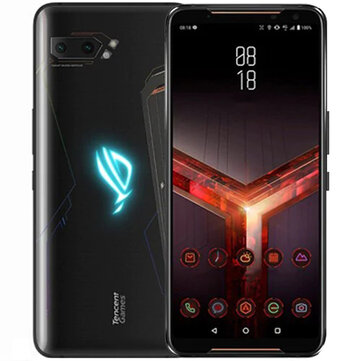 £1,182.95 22% ASUS ROG Phone 2 6.59 Inch FHD+ 6000mAh Android 9.0 NFC 12MP + 13MP Rear Camera 12GB RAM 512GB ROM USF 3.0 Snapdragon 855 Plus Octa Core 2.96GHz 4G Gaming Smartphone Smartphones from Mobile Phones & Accessories on banggood.com