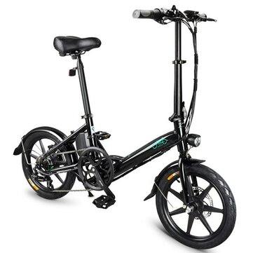Ευρωπαϊκή αποθήκη | [EU Direct] FIIDO D3S Shift Version 36V 7.8Ah 250W 16 Inch Folding Moped Bicycle 25km / h Max.