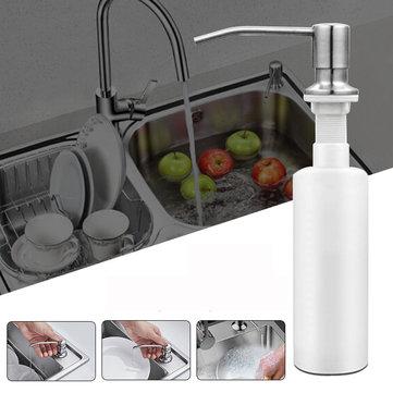 300ml stainless steel sink mounted liquid soap dispenser kitchen bathroom bottle