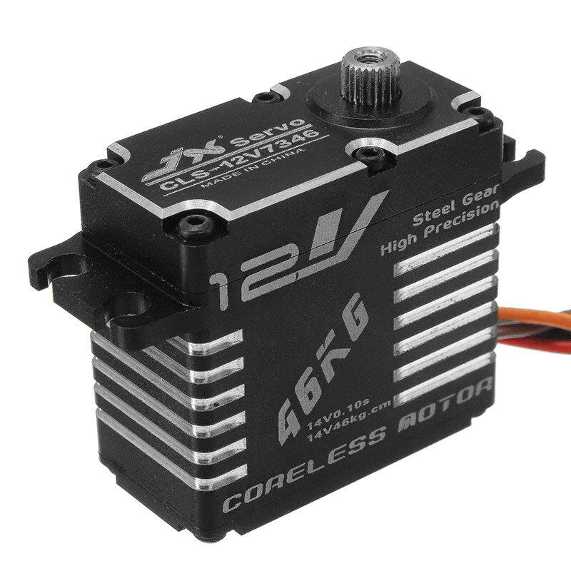 JX CLS-12V7346 46KG 12V 180 Degrees HV High Precision Steel Gear Digital Coreless Servo For RC Robot