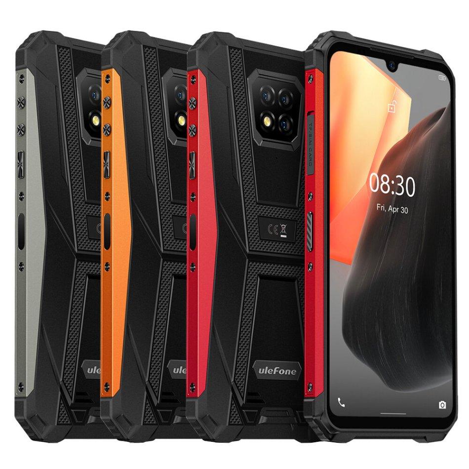 Ulefone Armor 8 Pro IP68 IP69K Waterproof Android 11 6GB 128GB 6.1 inch Triple Rear Camera NFC 5580mAh Helio P60 Octa Core 4G Rugged Smartphone