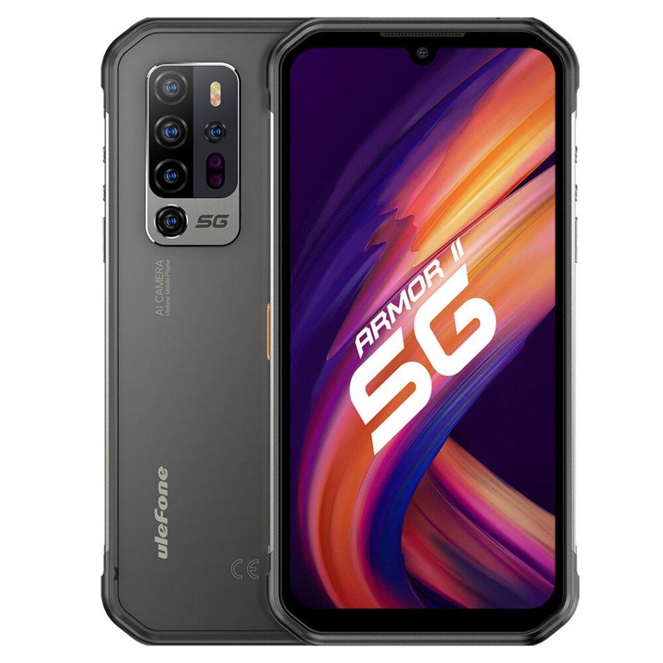 Ulefone Armor 11 5G IP68 IP69K Waterproof 6.1 inch 8GB 256GB 48MP Penta Camera NFC 5200mAh Wireless Charge MTK Dimensity 800 Rugged Smartphone