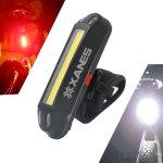 Στα 5.76€ από αποθήκη Κίνας   XANES 2 in 1 500LM Bicycle USB Rechargeable LED Bike Light Taillight Ultralight Warning Night