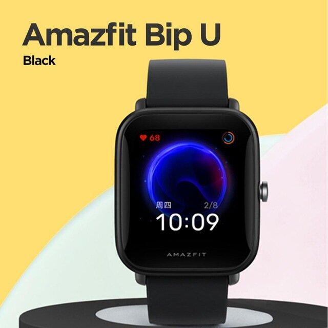 Original Amazfit Bip U 1.43 Inch Color Screen Wristband Blood Oxygen Monitor 60+ Sport Modes Tracker Microphone GPS Smart Watch Global Version