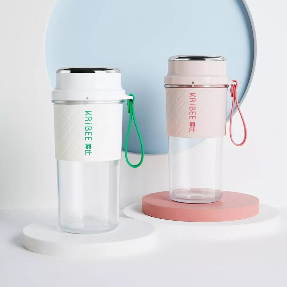 KRiBEE KB-C1 Portable Juicer Cup Magnetic Charging Automatic Power-off Cup Lid Separated for Travel