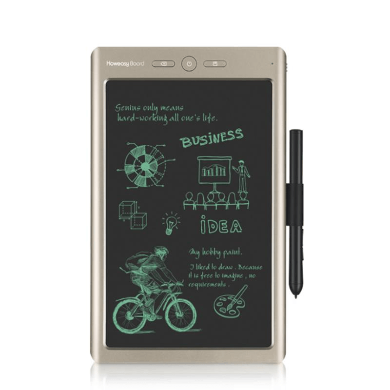 Howeasy Board HYX 10 inch LCD Writing Tablet Wireless bluetooth Connection Transmit to Mobile Phone Tablet Digital Electronic Drawing Sketching Writing Board with Pen For Children Adult