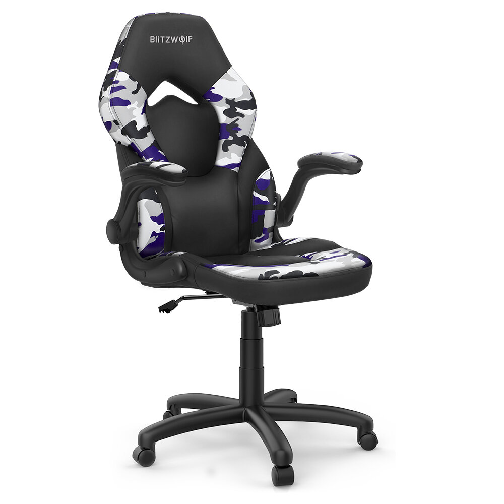 Ευρωπαϊκή αποθήκη | BlitzWolf® BW-GC4 Gaming Chair Racing Style with Camouflage/PU/Mesh Material Reversible Armrest Widened Seat and High Back Design for Home Office
