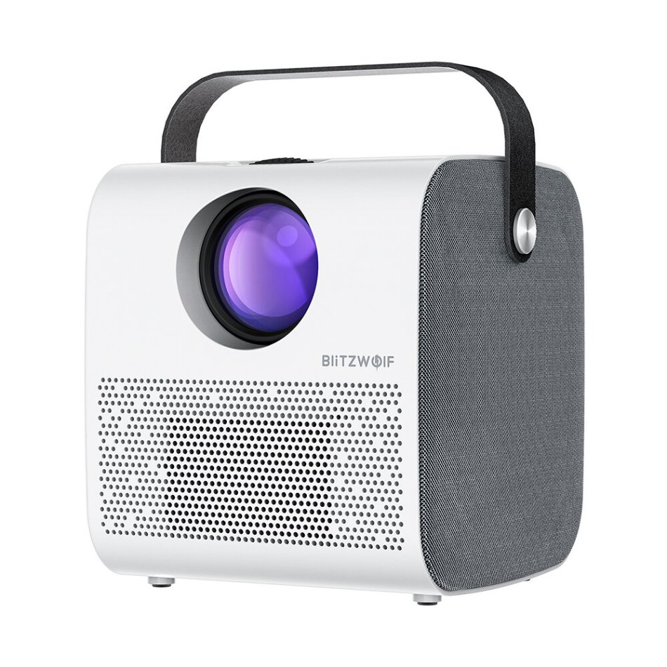 BlitzWolf® BW-VP5 Portable LCD Projector 3800 Lumens 1280*720P HD Multimedia bluetooth V4.0 Projector with 3W*2 Speakers Home Theater Projector
