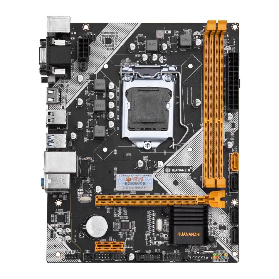 HUANANZHI B75 Desktop Motherboard M-ATX LGA1155 for Core i3 i5 i7 CPU Support 2*8G DDR3 Memory Black