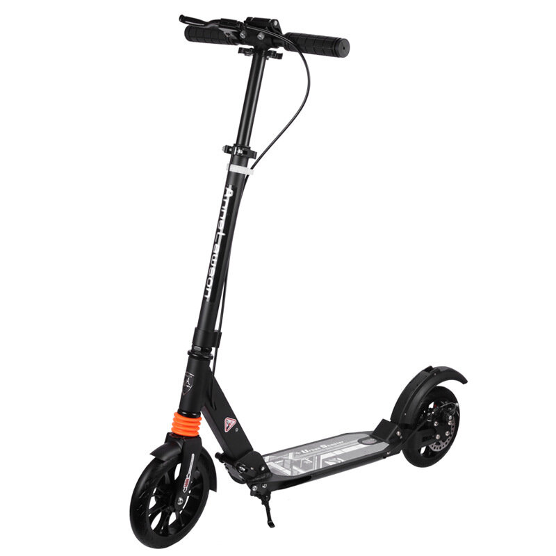ANLOSAN A5-D Adult Youth Folding Scooter with Disc Brake 3 Height Adjustable Max. Load 100kg Adult Kick Scooter Two Wheels Balance Scooter