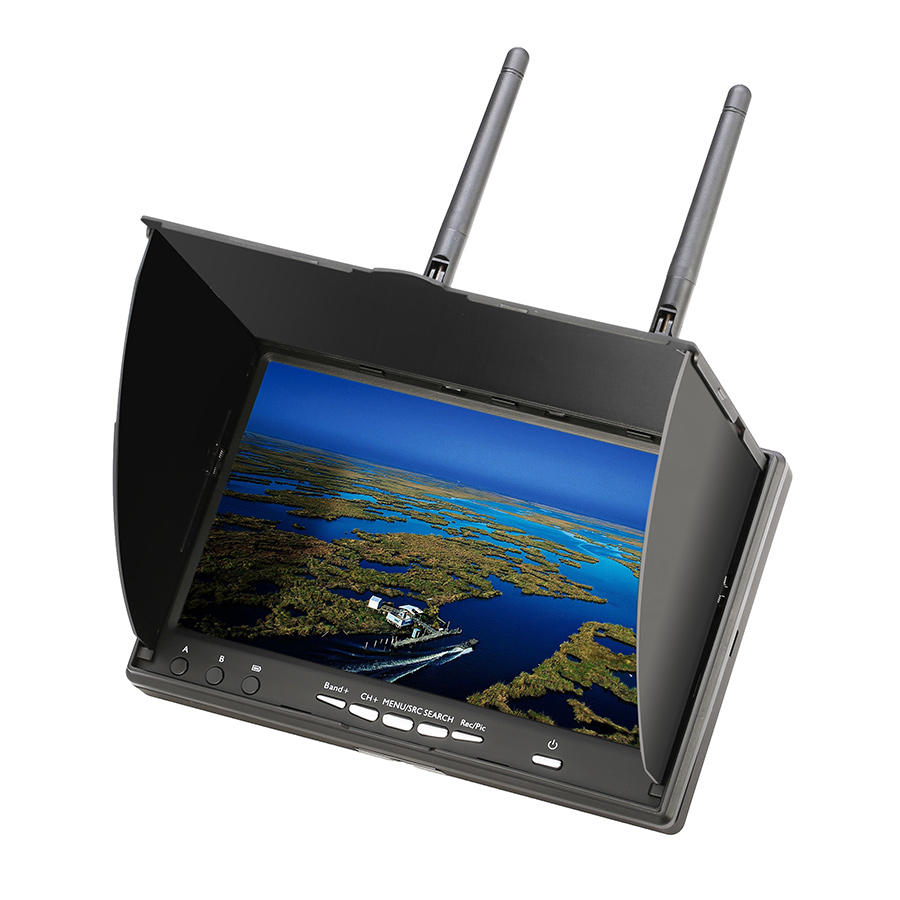 Eachine LCD5802D 5802 5.8G 40CH 7 Inch FPV Monitor with DVR Build-in Battery for RC Drone Airplane Long Range