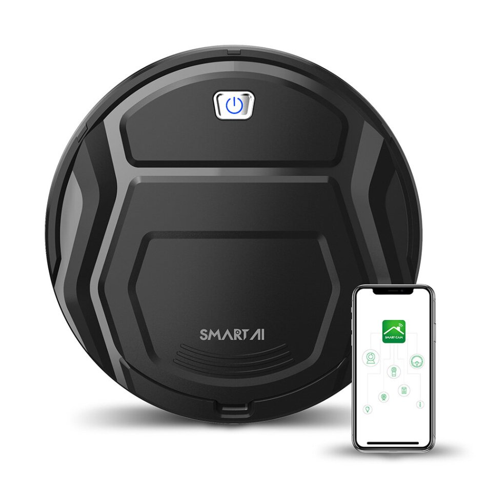SMARTAI 11 Max Robot Vacuum Cleaner 1500Pa Compass Navigation Four Cleaning Modes 3 Gear Suction Power 360°Anti-collision APP Control Self Recharge