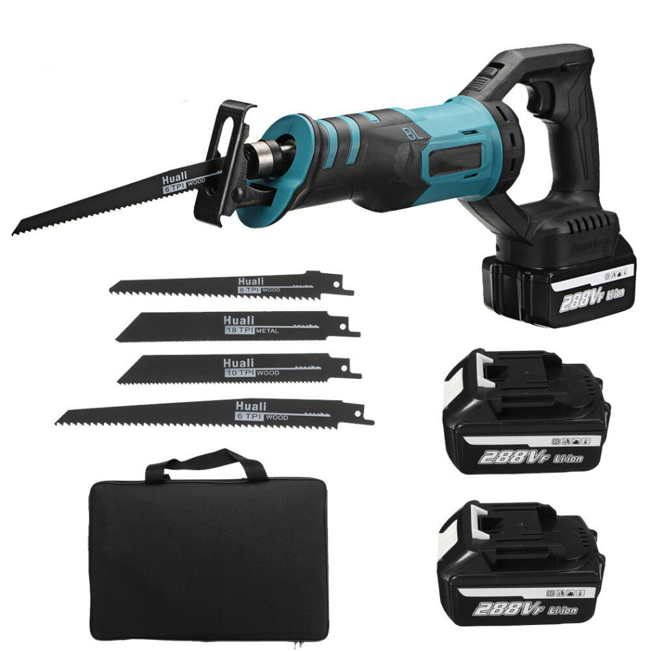 288VF 1200W Brushless Electric Reciprocating Saw Cordless Chainsaw One-Hand Saw Cutting Woodworking Tools W/ 1 or 2pcs Battery For Makita