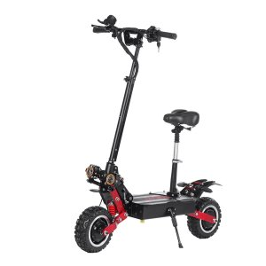 LAOTIE® ES18 60V 31.2Ah 2800W*2 Dual Motor Foldable Electric Scooter With Saddle 85Km/h Top Speed 100km Mileage 200kg Bearing EU Plug