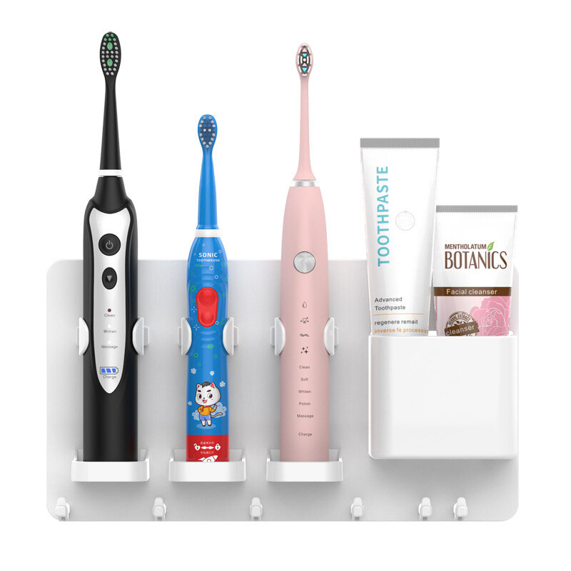 Jordan&Judy Adjustable Toothbrush Holder Toothpaste Storage Rack Shaver Tooth Bathroom for Xiaomi/Soocas/Oclean/Mijia Toothbrush from Xiaomi Youpin