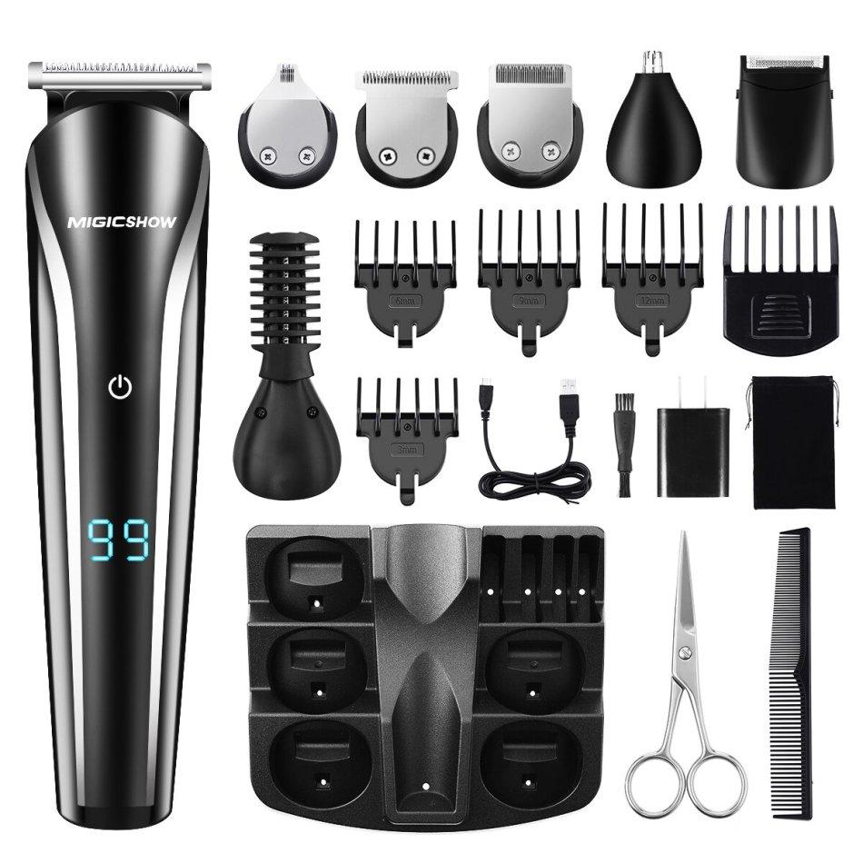 Professional Hair Trimmer Men MIGICSHOW Beard Trimmer Shaving 11 In 1 Electric Hair Trimmer Shaver Remove Nose Hair Ears Body Underarm Legs Waterproof