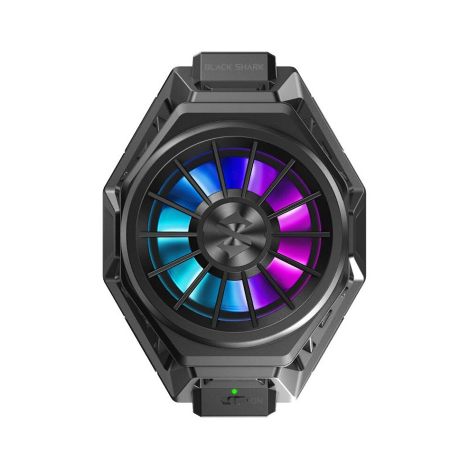Original Black Shark Fun Cooler Pro APP Control RGB LED Light Back Clip ProType-C Bass Cooling Fan For iPhone XS 11Pro Xiaomi Mi10 S20 5G From Xiaomi System