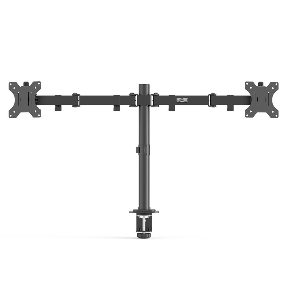 """DouxLife MS-DA01 Dual Monitor Stand Full Motion Dual Mount Quick Insert Dynamic Height Adjustability for 13""""-27"""" Screen Home Office"""