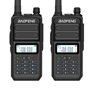 Στα 44€ από αποθήκη Τσεχίας | 2PCS BAOFENG BF-S5plus 18W Waterproof UV Dual Band Handheld Radio Walkie Talkie Flashlight Hiking Interphone Black EU Plug