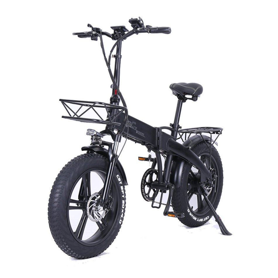 [EU Direct] CMACEWHEEL GT20-PRO 750W 48V 10Ahx2 Double Battery Folding Electric Bicycle 20x4in 45km/h Top Speed Electric Bike