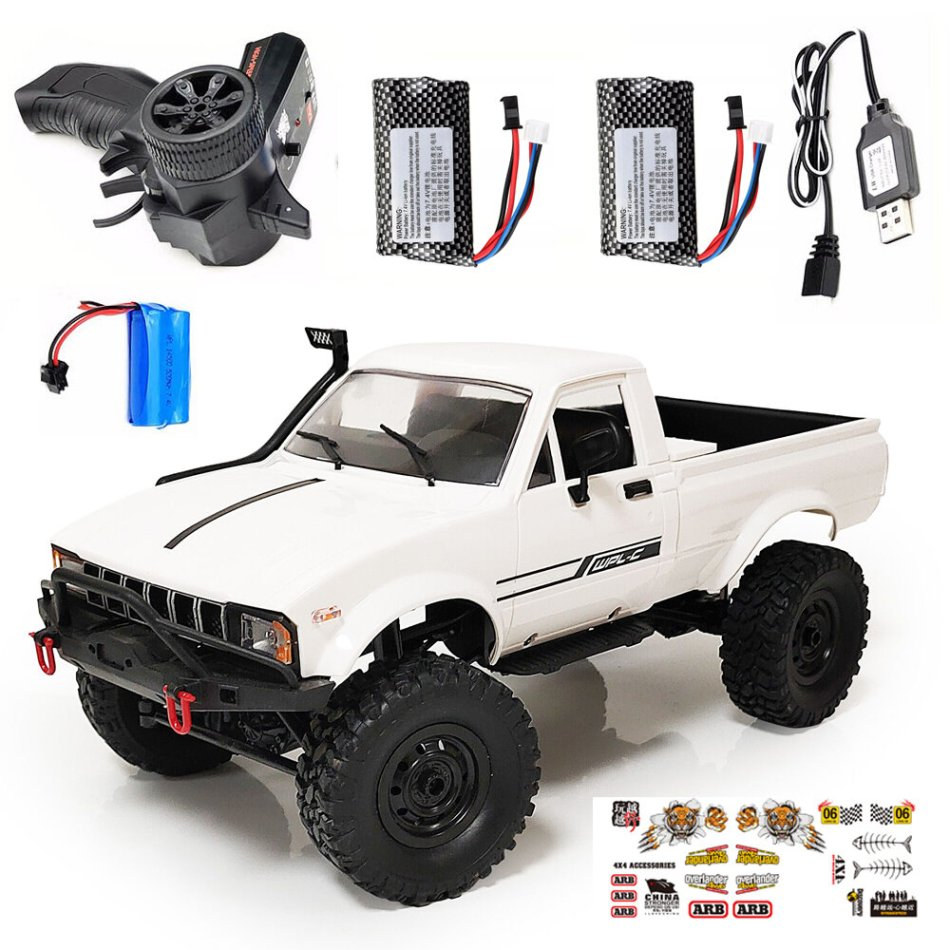 WPL C24 1/16 2.4G 4WD Crawler RTR Truck RC Car Full Proportional Control Two/Three Battery