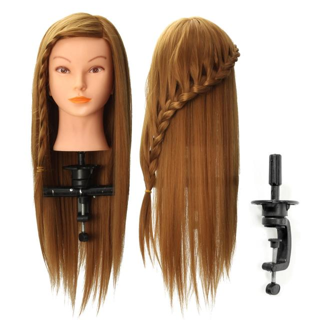 """20"""" long hair mannequin manikin training salon head model hairdressing cosmetology with clamp holder"""