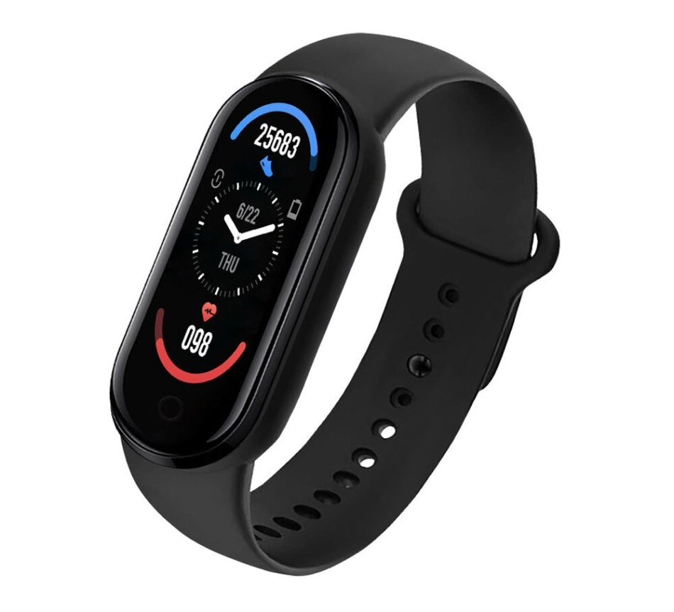 Bakeey M6 0.96 inch Touch Screen Heart Rate Blood Pressure Oxygen Measurement Sleep Monitoring Custom Dial Smart Watch