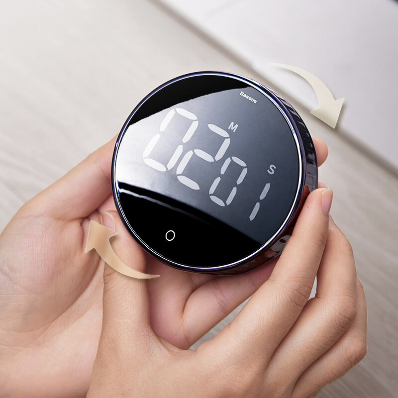 Baseus Magnetic Digital Timers Alarm Clock Mechanical Cooking Timer Alarm Counter Clock from Xiaomi Ecological Chain