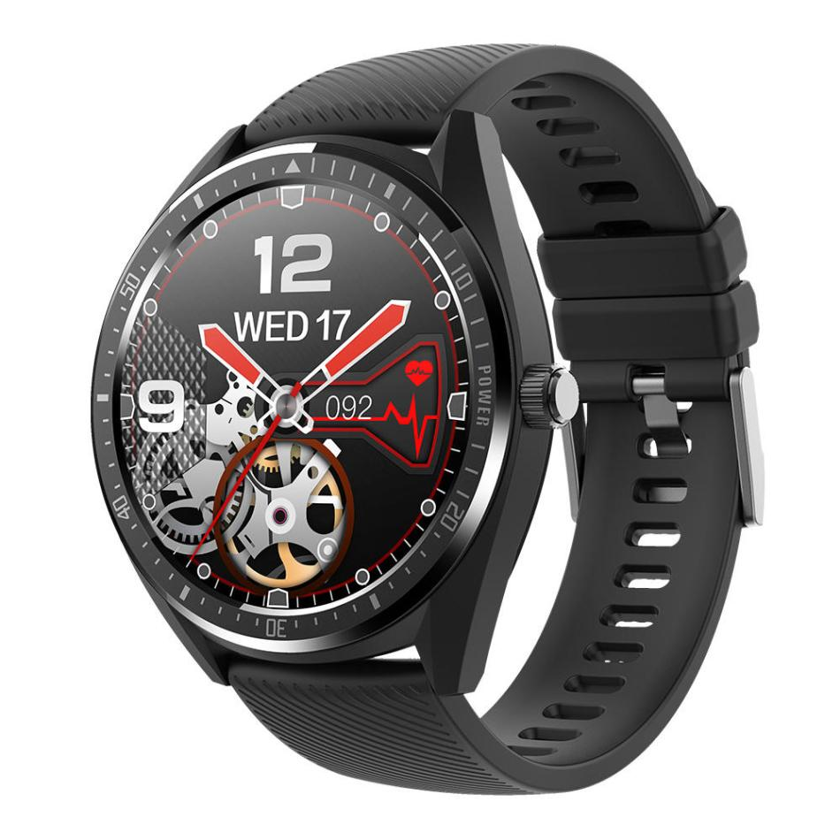 KINGWEAR KW32 1.28inch Heart Rate Monitor Real-time Weather Display 460mAh Big Battery bluetooth Smart Watch