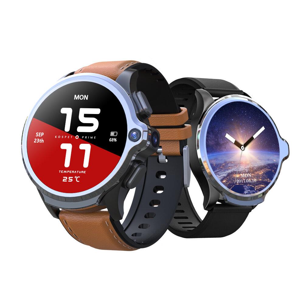 Ε[Face Unlock]Kospet Prime 3G+32G 4G-LTE Watch Phone Dual Cameras 1260 mAh Battery Capacity GPS Smart Watch