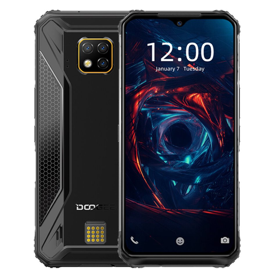 DOOGEE S95 Global Bands IP68 Waterproof 6.3 inch FHD+ NFC 5150mAh Android 9.0 48MP Triple AI Rear Cameras 6GB RAM 128GB ROM Helio P90 Octa Core 4G Smartphone