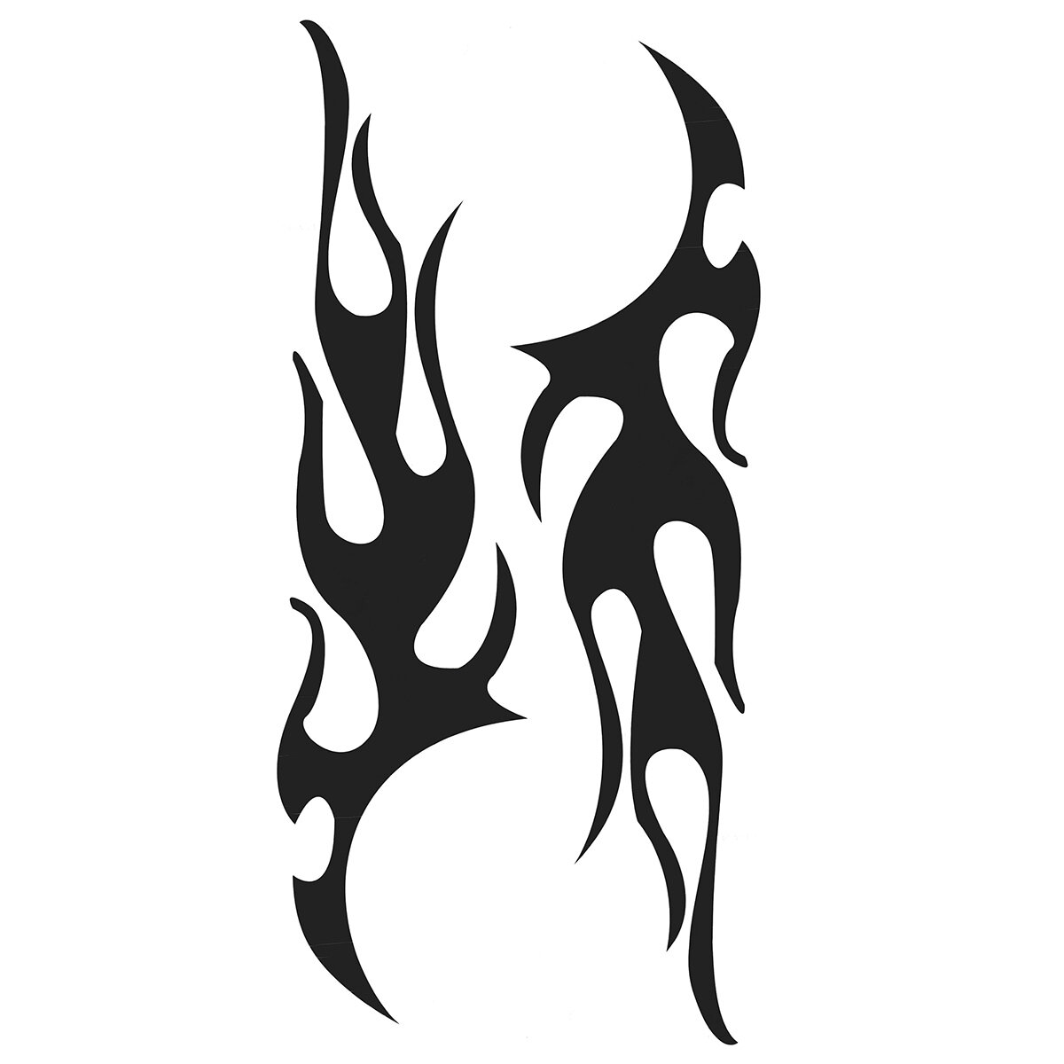 2pcs Flame Stickers Graphic Decal Large Flaming Body