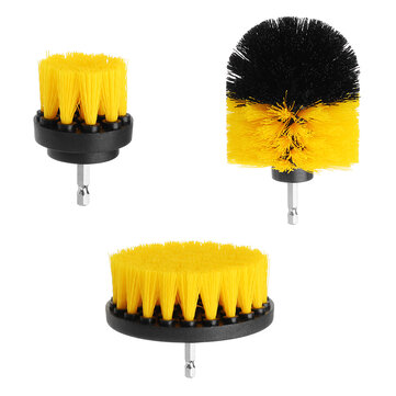 drillpro 3pcs 2 3 5 4 inch yellow electric drill brush tile grout power scrubber tub cleaning brush
