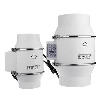 4 6 8 inch ventilation inline extractor fan window wall kitchen toilet exhaust blower 45w 75w 135w